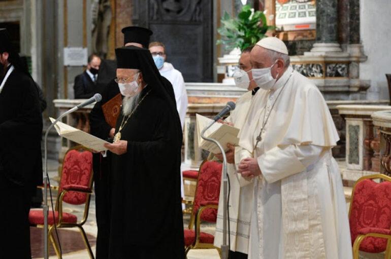 Ο Οικ. Πατριάρχης στη Διαθρησκειακή Συνάντηση για την ειρήνη στη Ρώμη