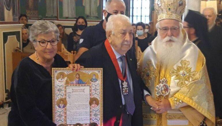 Η Μητρόπολη Δημητριάδος τίμησε τον Μεγάλο Ευεργέτη της Χαράλαμπο Τσιμά