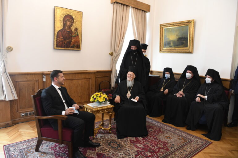 Επίσκεψη του Προέδρου της Ουκρανίας Zelenskyy στο Οικουμενικό Πατριαρχείο