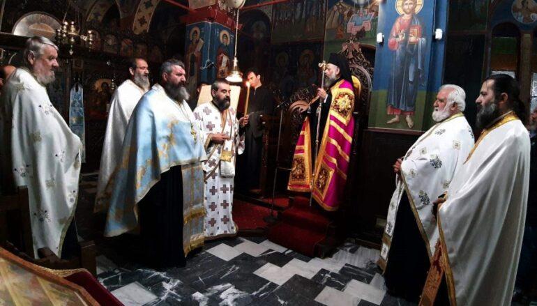 Αρχιερατικός Εσπερινός της Παναγίας «Βασιλίσσης» στην Ι. Μ. Θεσσαλιώτιδος