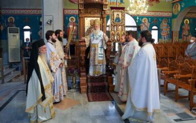Αρχιερατική Θ. Λειτουργία στον Ι. Ναό Αγίας Ειρήνης Χρυσοβαλάντου Μελίκης Ημαθίας
