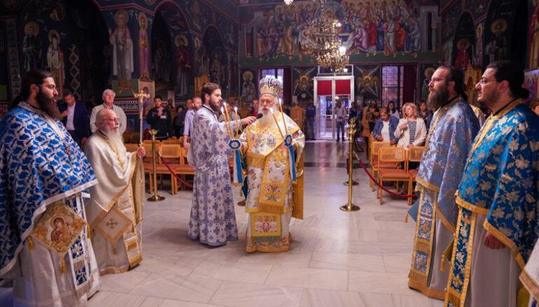 Αγρυπνία συνάξεως της θαυματουργού εικόνος της Παναγίας Γοργοεπηκόου στη Νάουσα