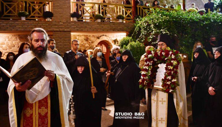 Πανηγυρικός Εσπερινός στην Ι. Μονή Αγίου Δημητρίου Καρακαλά Ναυπλίου