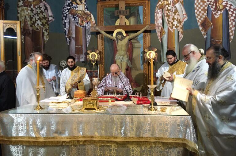 Η Θεία Λειτουργία του Αγίου Ιακώβου στην Ι. Μ. Αιτωλίας