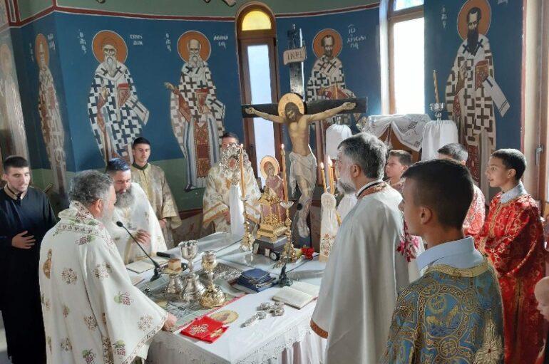 Ο Μητροπολίτης Χαλκίδος στον Ι. Ναό Αγίου Γεωργίου στο Βατώντα