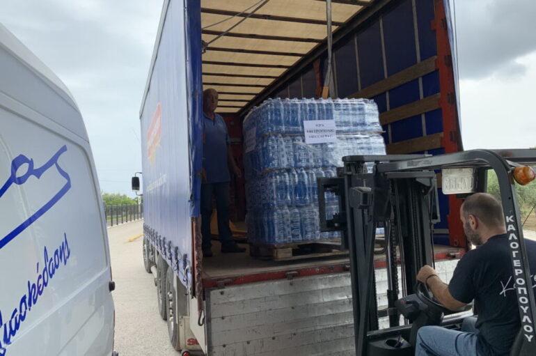 Ανθρωπιστική βοήθεια στους πλημμυροπαθείς της Καρδίτσας απ' την Ι. Μ. Μεσσηνίας