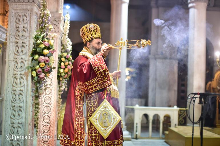 Βραδινή Θ. Λειτουργία από τον Μητροπολίτη Λαγκαδά στον Άγιο Δημήτριο Θεσσαλονίκης