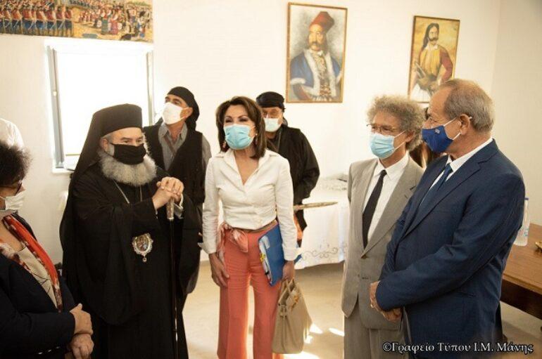 Συνάντηση Μητροπολίτη Μάνης με την κα Γιάννα Αγγελοπούλου