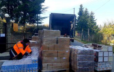 Προσφορά τροφίμων στην Ι. Μητρόπολη Ιερισσού από την Μονή Βατοπαιδίου