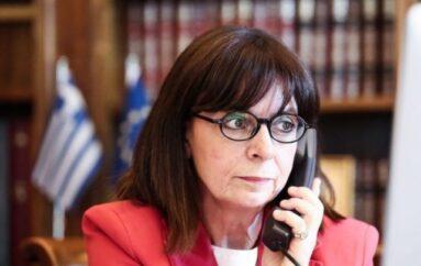 Τηλεφωνική επικοινωνία της ΠτΔ Σακελλαροπούλου με τον Αλβανίας Αναστάσιο
