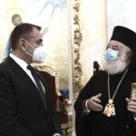 Στον Πατριάρχη Αλεξανδρείας ο Υπουργός Εθνικής Αμύνης