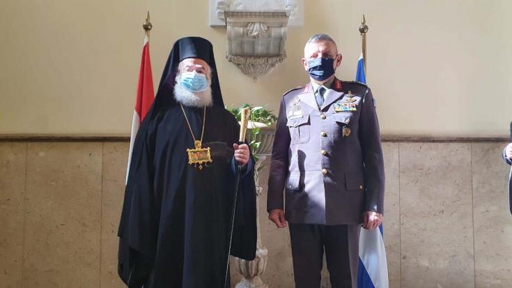 Συνάντηση Αρχηγού ΓΕΕΘΑ με τον Πατριάρχη Αλεξανδρείας