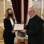 Η νέα Πρέσβειρα της Γαλλίας στον Αρχιεπίσκοπο Κύπρου