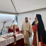 Ο Μητροπολίτης Ελασσώνος ιερούργησε σε αυτοσχέδια εκκλησία στο Δαμάσι