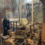 Ο Μητροπολίτης Λαρίσης σε σεισμόπληκτους Ναούς