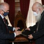 Οι Δήμαρχοι Μεσολογγίου και Υμηττού – Δάφνης στον Αρχιεπίσκοπο