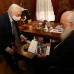 Συνάντηση Αρχιεπισκόπου με τον Πρόεδρο του Ελληνικού Ερυθρού Σταυρού