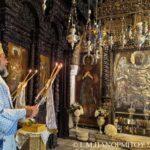 Ο Εορτασμός προόδου του τιμίου Σταυρού στη Ι. Μονή Πανορμίτου Σύμης