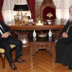 Συνάντηση Αρχιεπισκόπου με τον Υφυπουργό Περιβάλλοντος και Ενέργειας