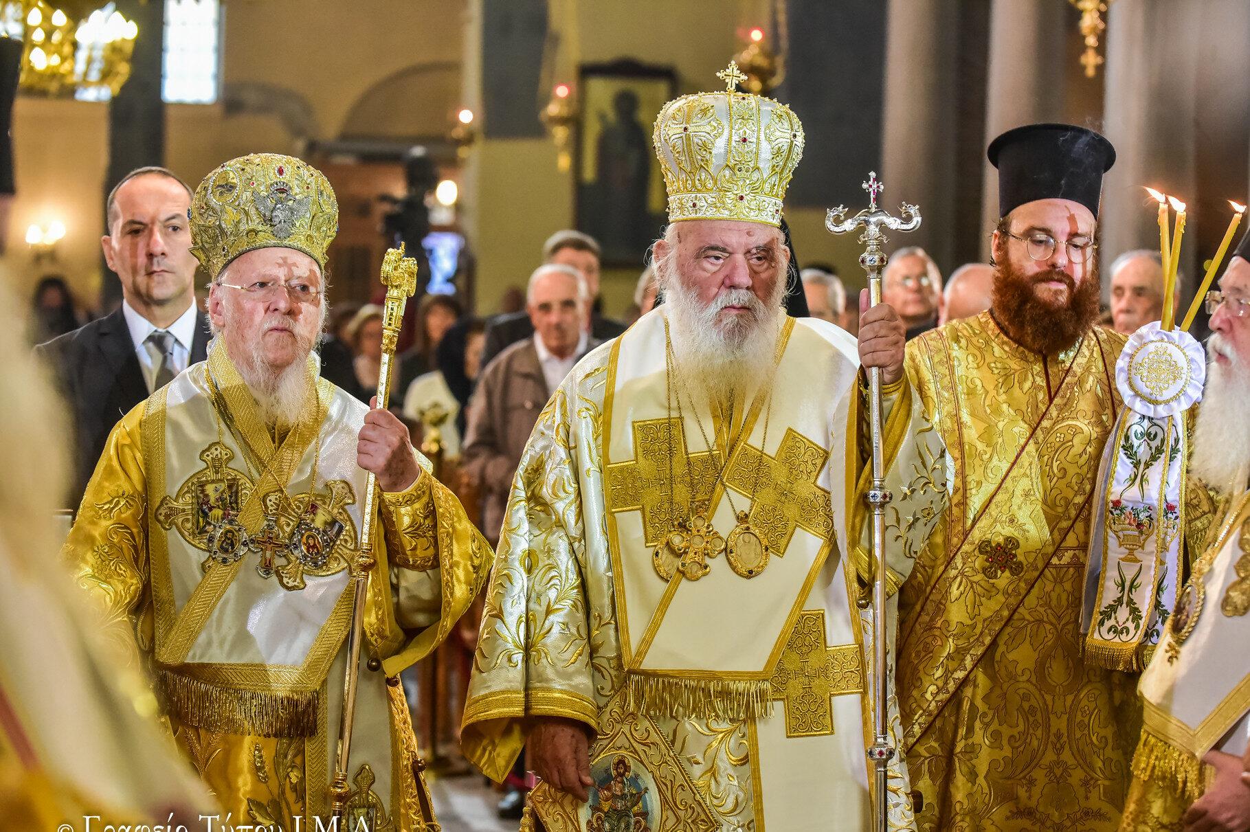 Συλλείτουργο Οικ. Πατριάρχη με Αρχιεπίσκοπο Ιερώνυμο στις 21 Νοεμβρίου στην Αθήνα