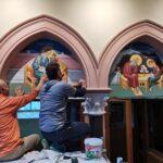 Τοποθέτηση τοιχογραφιών στον Καθεδρικό Ναό Αγ. Γεωργίου Στοκχόλμης