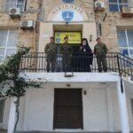 Ο Μητροπολίτης Σύρου στο Τάγμα Εθνοφυλακής Ερμουπόλεως